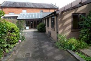 Front entrance to Reading Quaker meeting house