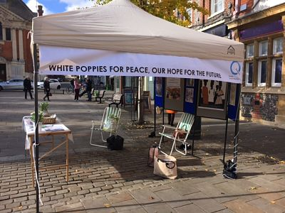White poppies at Henley