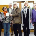 Maidenhead Quakers present a cheque to the local food bank