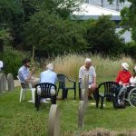 Quakers having refreshments in our burial ground